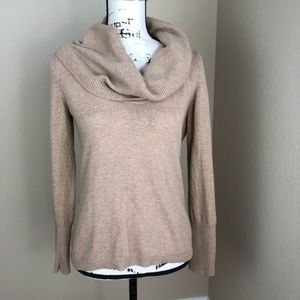 Banana Republic Camel Wool Cowlneck Sweater M P